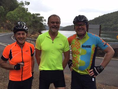 Ross, David, John at Coal and Candle Creek before final climb up to Terrey Hills
